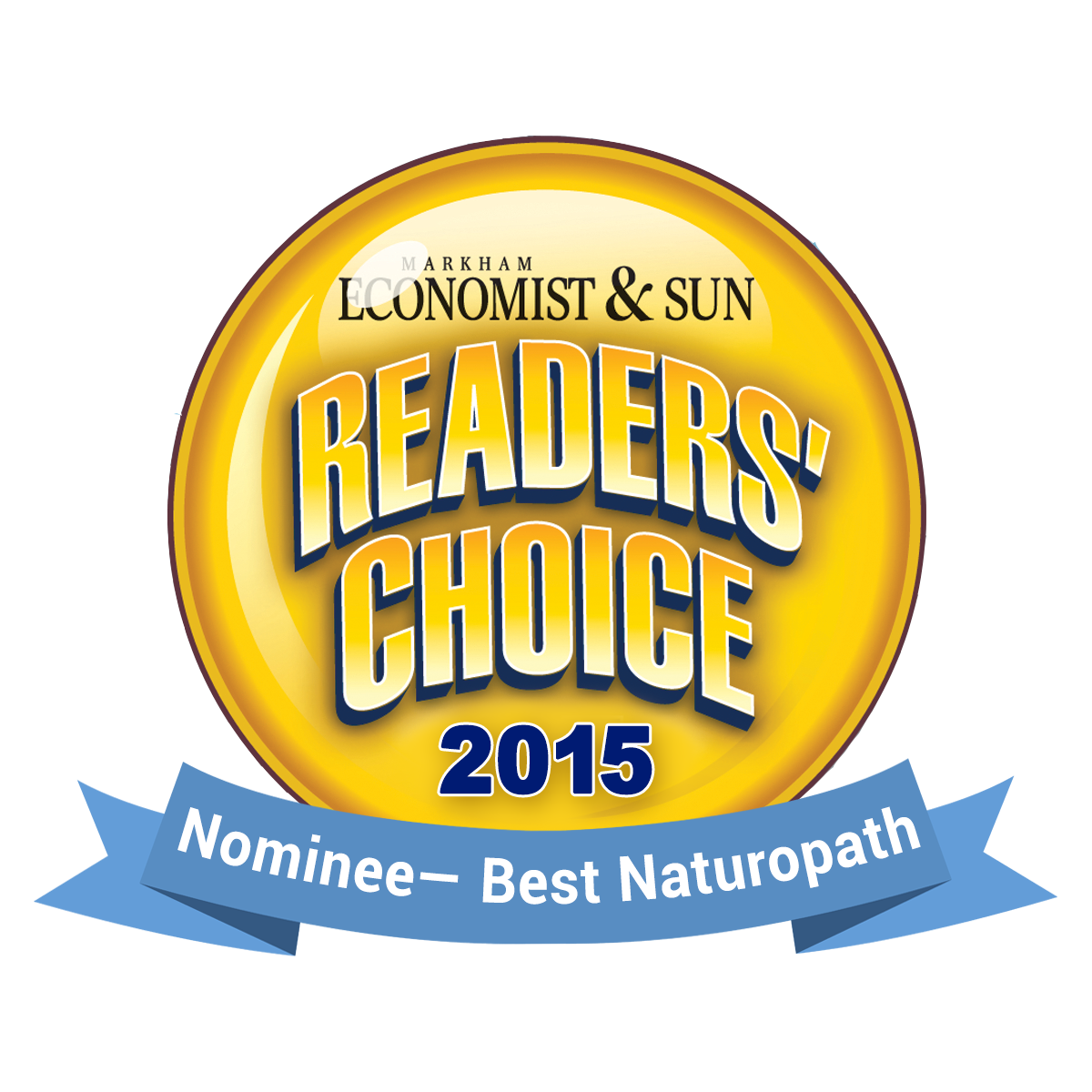 Reader's Choice Award - 2015 Nominee, Best Naturopath